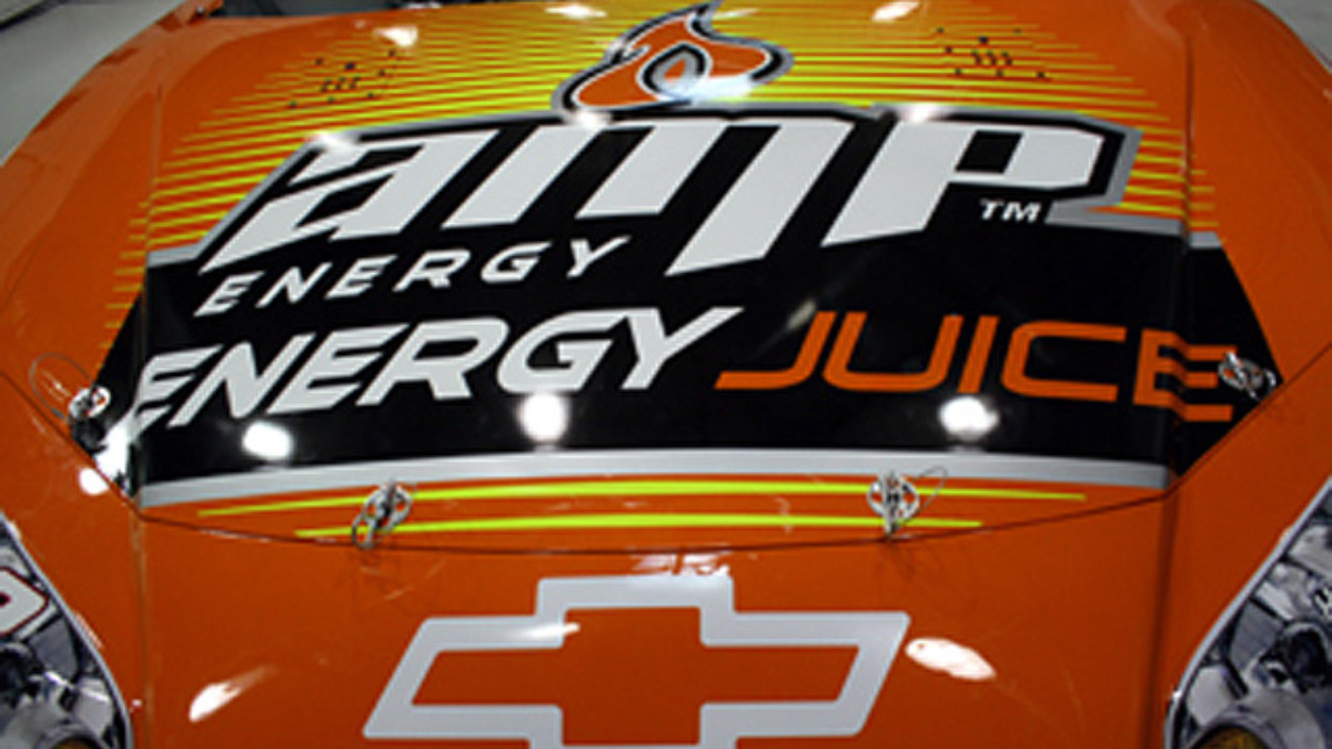 Earnhardt heads west with momentum, AMP Energy Juice scheme