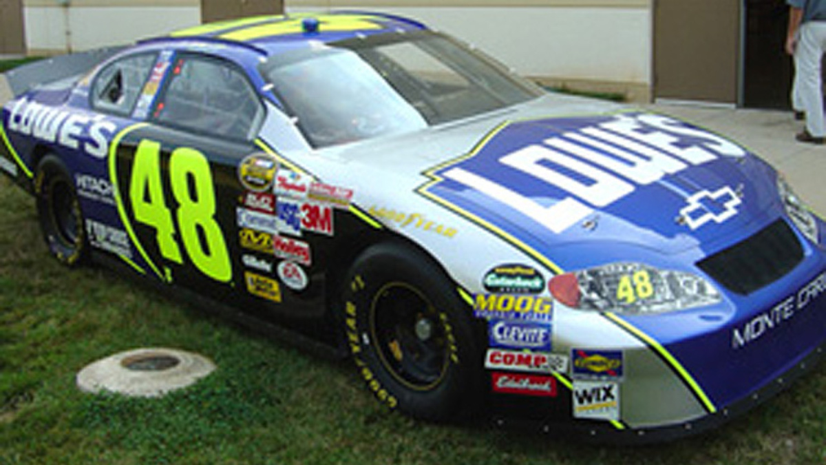 Johnson Unveils New-Look Lowe's Paint Scheme