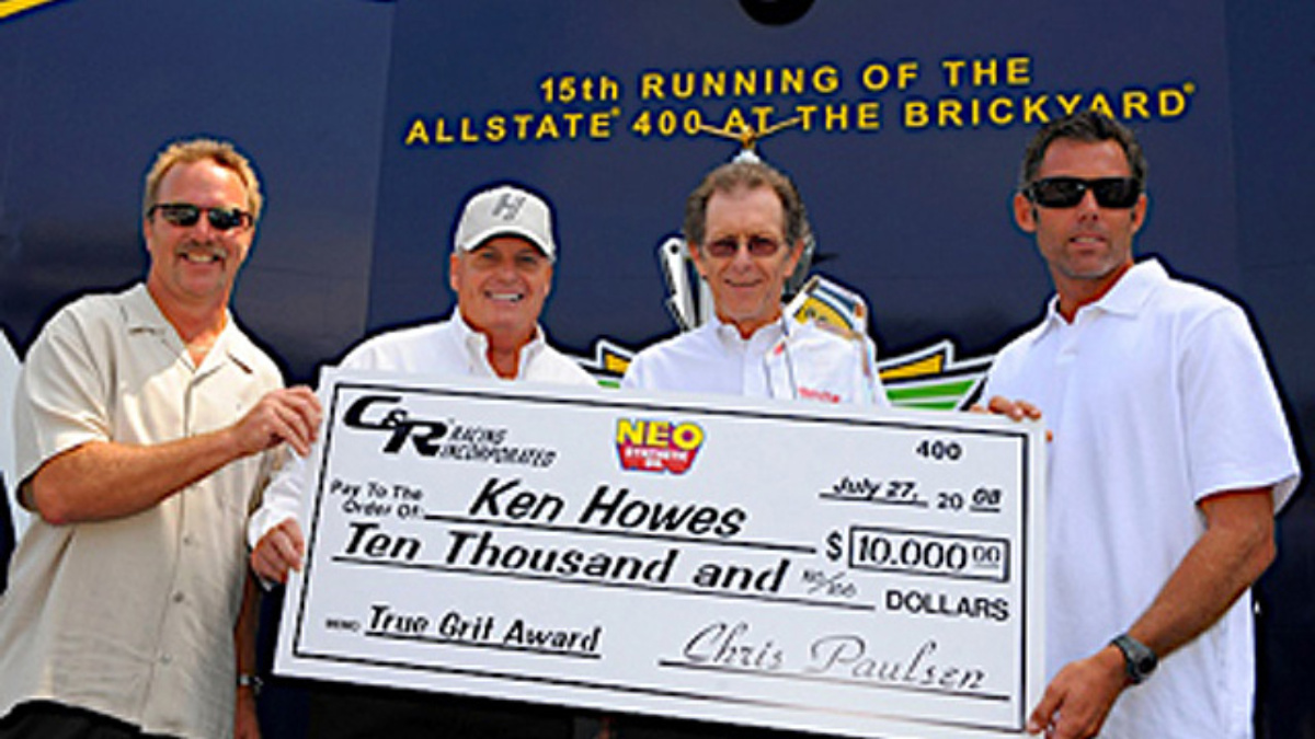 Ken Howes honored at Indy with True Grit Award