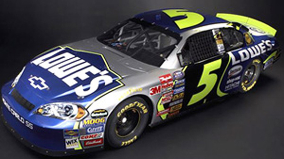 Jimmie Johnson Chevy >> Kyle Busch Driving No. 5 Lowe's Chevys in Busch Series ...