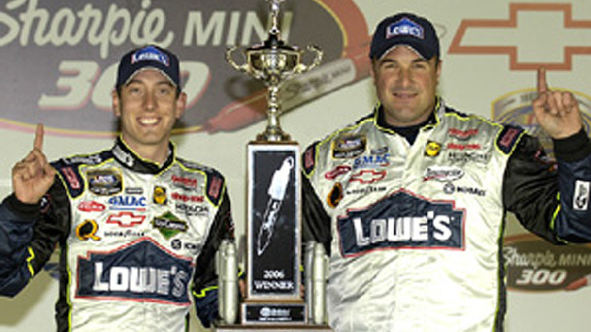 Team Lowe's Wins Snowy Busch Race at Bristol