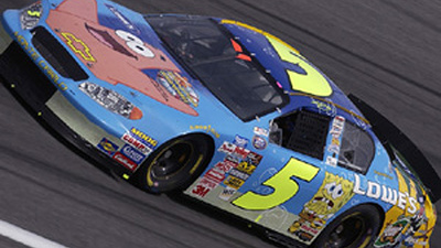Busch charges to fifth at lowe s motor speedway hendrick for Lowe s motor speedway