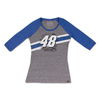 No. 48 Ladies Track 3/4 Sleeve Tee