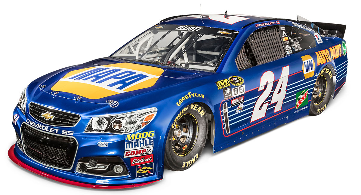 elliott hendrick unveil 2016 no 24 napa auto parts chevy hendrick motorsports. Black Bedroom Furniture Sets. Home Design Ideas