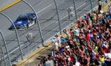 Earnhardt's Talladega Victory Lane celebration