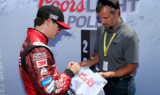 Gordon celebrates 80th career pole at Talladega Superspeedway