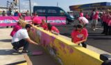 Johnson, Hamm #PaintOutCancer at Charlotte