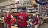 Johnson, Knaus and No. 48 team visit Lowe's employees in Indiana