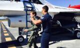 Kahne takes to the sky with the Thunderbirds