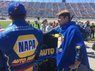'Swancho swagger' on full display at Chicagoland Speedway