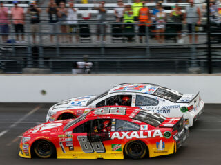 Gordon, Stewart share final lap around Brickyard