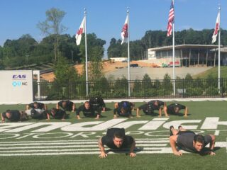 Pit crews take on #22PushUpChallenge