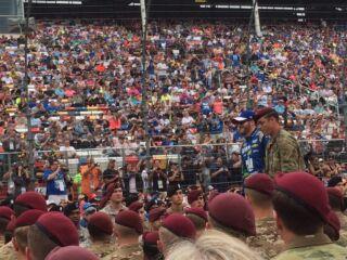 Teammates honor, thank troops on Memorial Day weekend