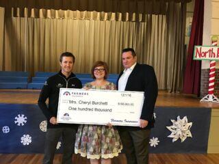 Kahne, Farmers Insurance award $100,000 educational grant