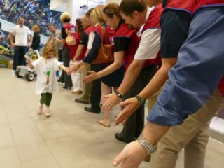 Johnson takes Texas Victory Bell tour with help from Lowe's ProServices