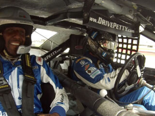 Panthers' Davis gets ride of his life from Earnhardt