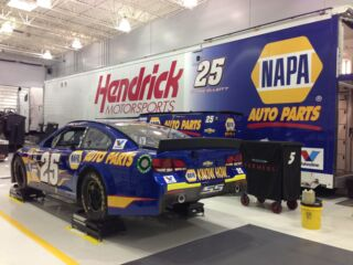 Elliott's No. 25 Napa Chevrolet SS and hauler ready for Sprint Cup debut