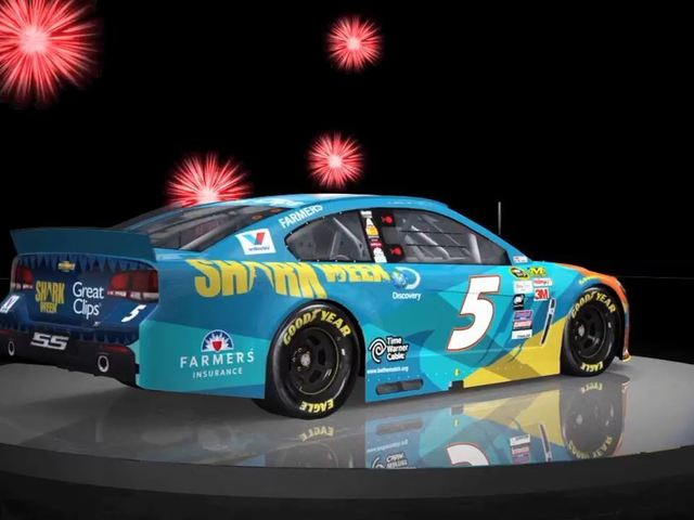 Stars and stripes, sharks, flames and fireworks: Daytona paint scheme preview