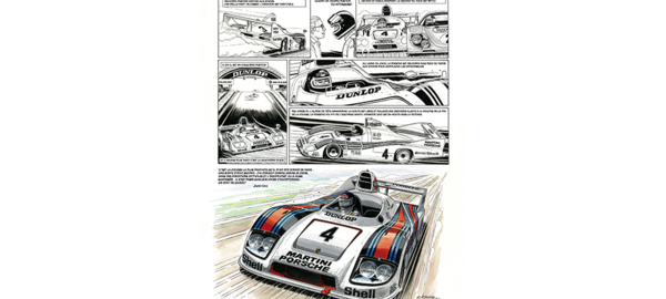 Planche bd   ickx   24h du mans 1977