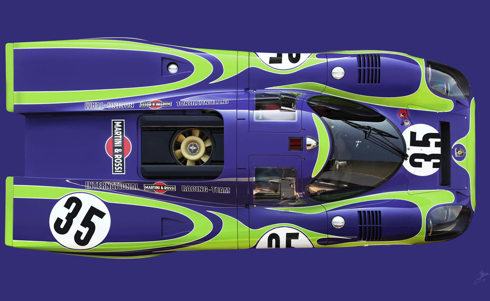 917 021 purple green