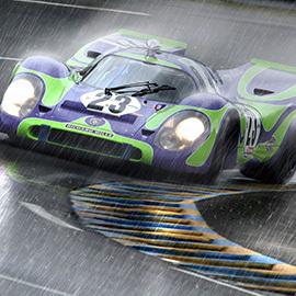 Porsche 917 pluie