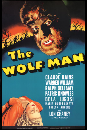 Poster for Lon Chaney, Jr.'s breakout performance as the Wolf Man