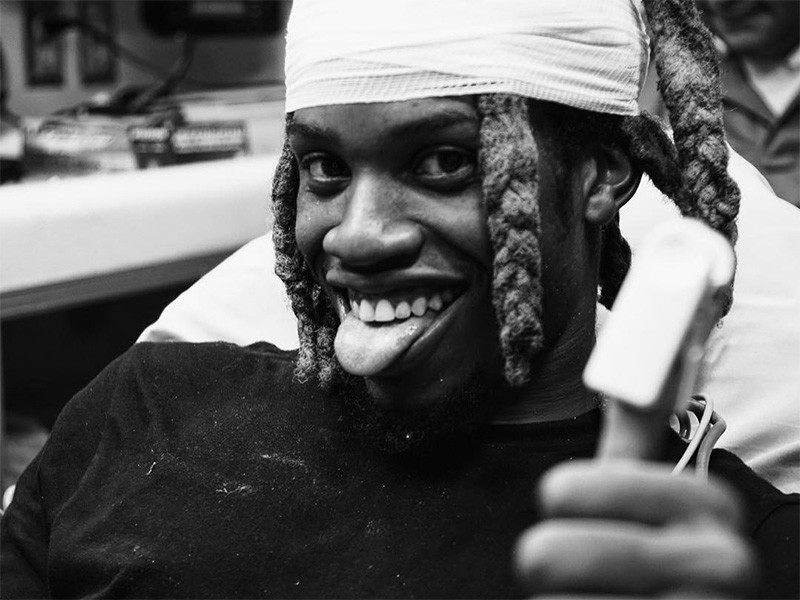 denzel curry falls through ceiling during performance