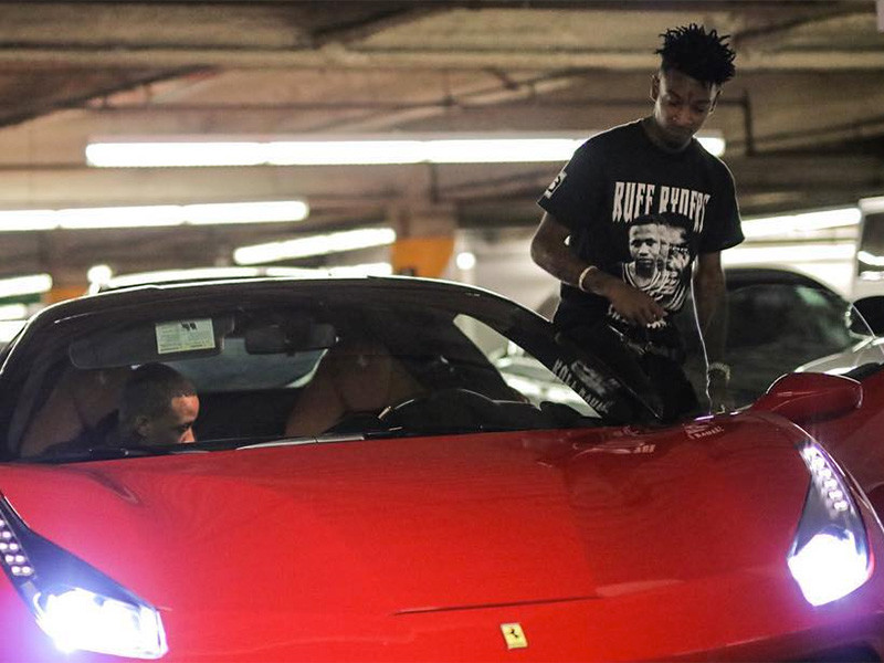 photo of 21 Savage Ferrari - car