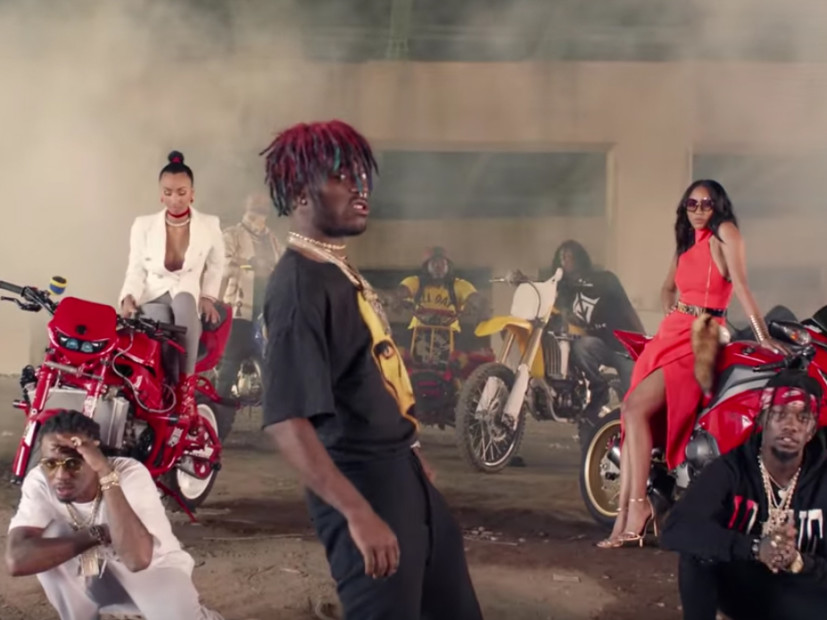 migos amp lil uzi vert drop video for quotbad and boujee