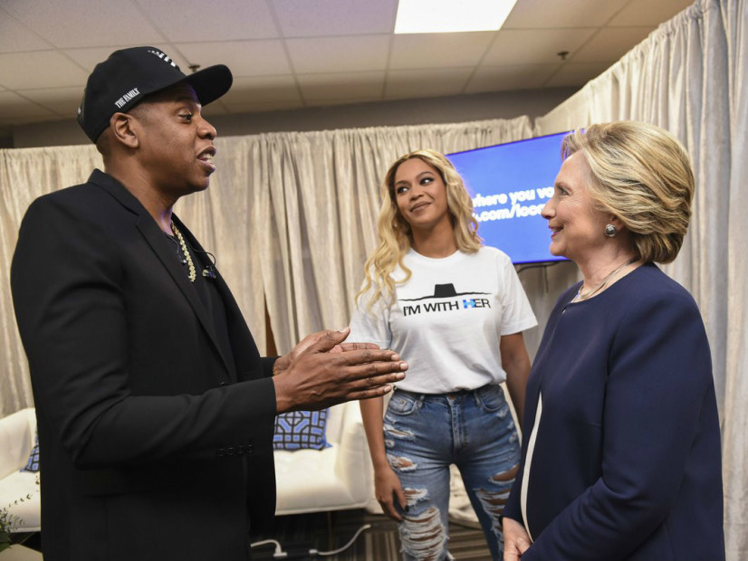 Jay Z & Beyonce Host Hillary Clinton Rally In Cleveland ...