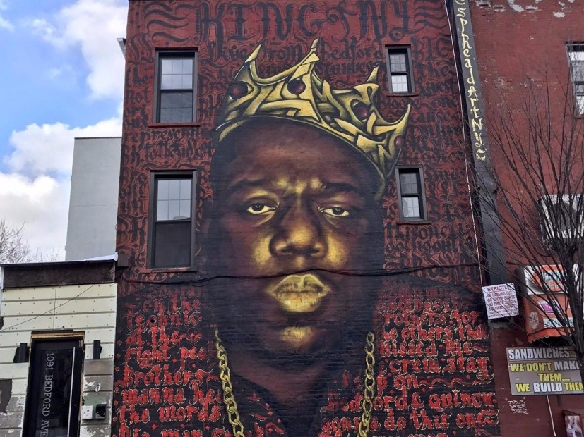Biggie mural in brooklyn to be taken down due to for Biggie smalls mural brooklyn