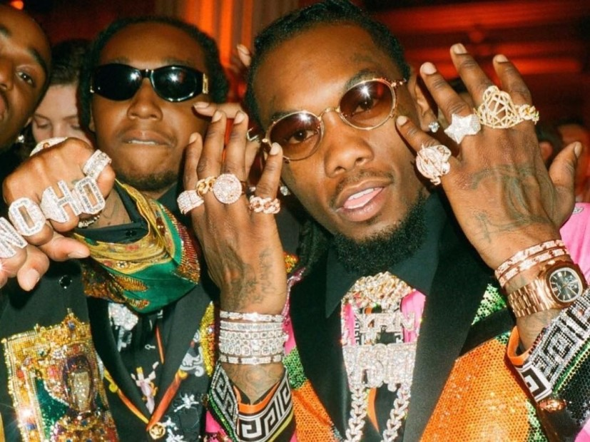Offset Shows Off Car Crash Injuries While Puffing On A