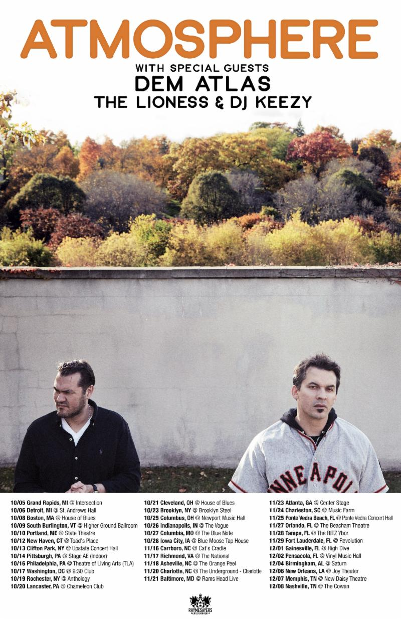 """Atmosphere Announce North American Tour With """"Make It All Better Again"""" Single"""