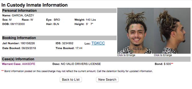 Lil Pump Arrested In Miami