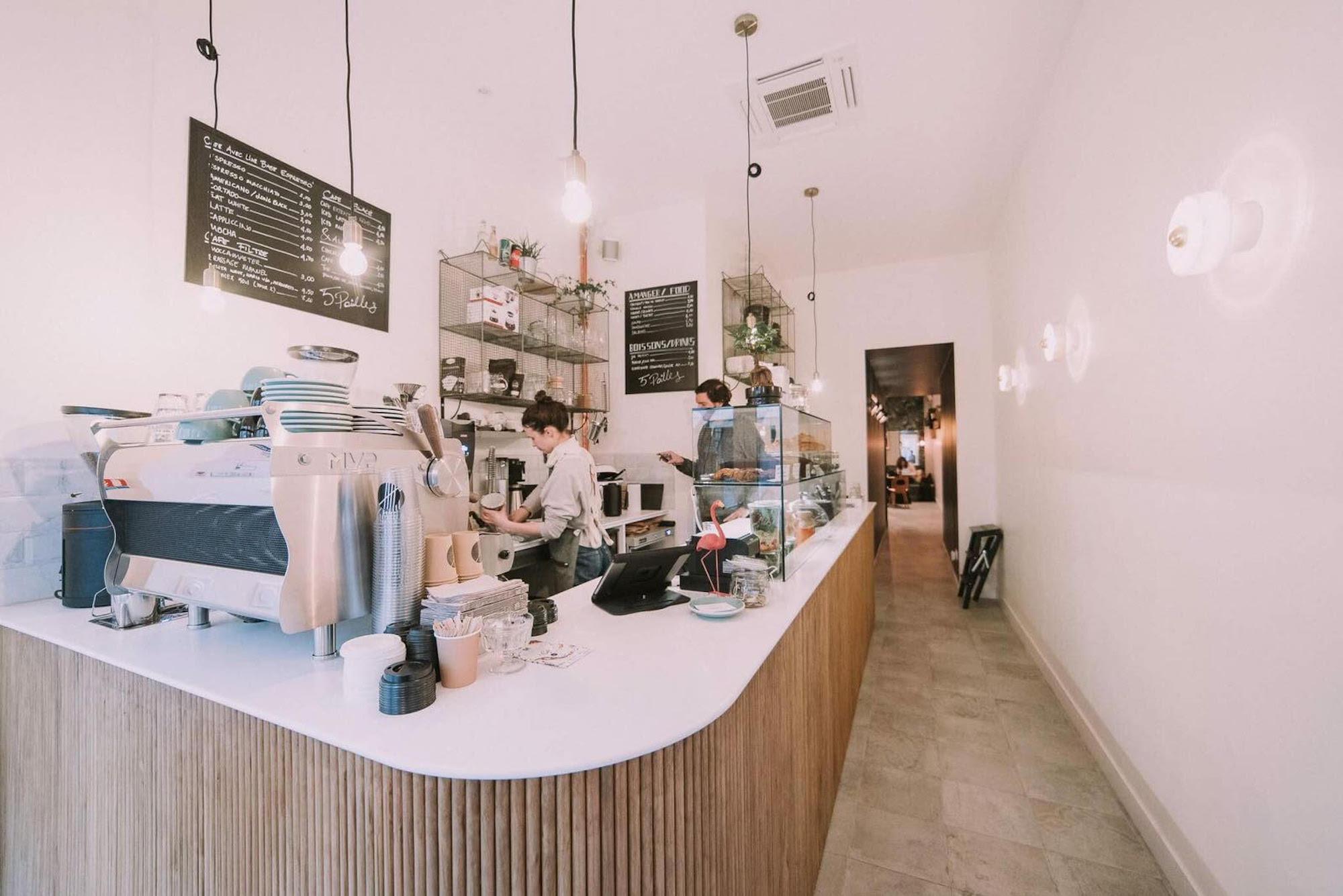 5 Pailles, a new coffee shop on rue du Faubourg Saint-Denis
