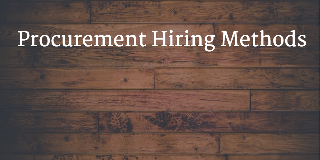 Procurement talent hiring
