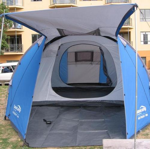 2-3 Room large family dome tent with 4 doors and 2 windows for good ventilation and access also large vestibule with optional porch area. & Large Family Size Dome Tents (2-3 rooms) for hire rent or rental ...