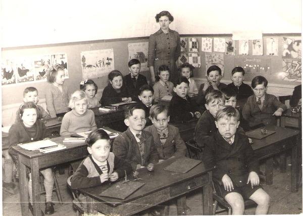Infants class, Lutton school, Lincs.