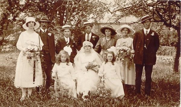Wedding in Lutton, Lincs., 1919