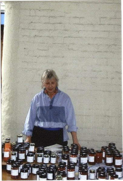 Selling Preserves at Bridgnorth Market