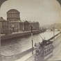 The Four Courts looking east down the River Liffey from Bridge St Dublin