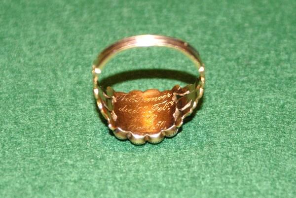 Mourning Ring - Thomas Spencer 1779 to 1829