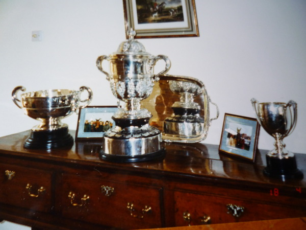 SOME OF THE SILVER TROPHIES WHICH CAN BE WON POINT TO POINTING