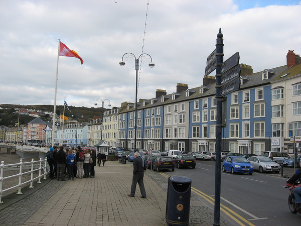 The seafront at Aberystwyth