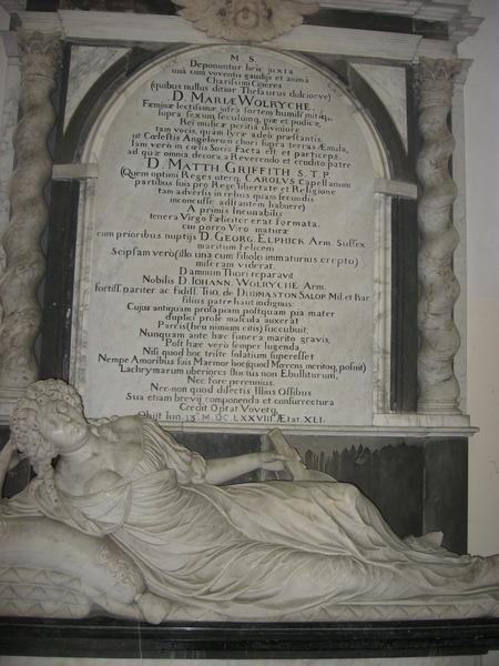 Wolryche Memorial in Quatt Church