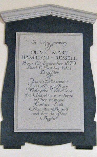 Olive Mary Hamilton Russell