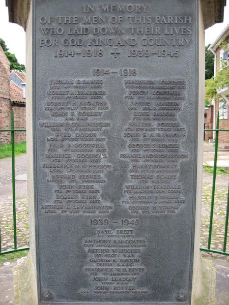 helperby war memorial