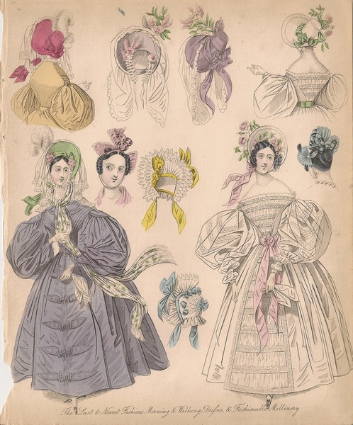 NEWEST LONDON AND PARIS FASHIONS FOR DECEMBER 1834