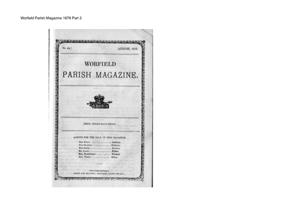 Worfield Parish Magazine 1876 Part 2