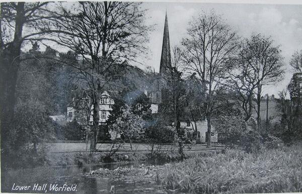 Worfield Postcard, Lower Hall